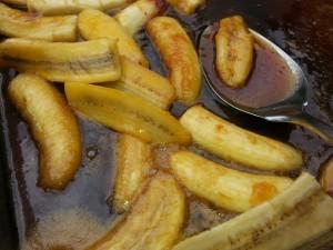 gegrillte karamellisierte Bananen