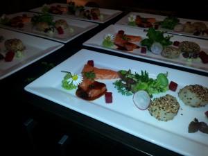 Sashimi von Lachs & Jacobmuschel